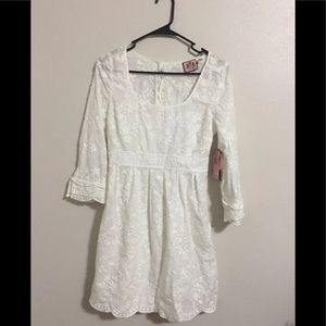 Juicy Couture white embroidered dress 0